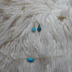 BUNDLE - Kendra Scott Turquoise Necklace Earrings
